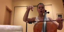 Cómo coger el arco del violonchelo.
