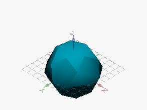 Poliedro limitado por pentágonos y triángulos