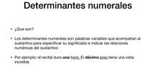 PRIMARIA- 6º- LOS NUMERALES - LENGUA- PAZ, ALVARO Y CRISTINA- FORMACIÓN