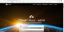 Uso básico del Cloud de Educamadrid