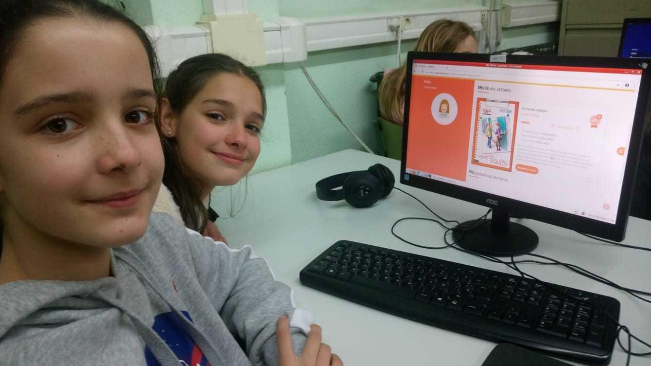 2019_01_25_Sexto B disfruta con el Proyecto Leemos de Lectura Online