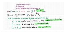 2º FPB M 19 de Enero Ecuaciones de 2º Grado. Discriminante