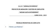DESARROLLO DE TÉCNICAS PREVENTIVAS DEL CONFLICTO