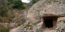 Entrada a una mina romana