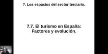 0707 Factores y evolución del turismo en España