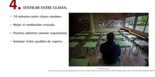 Ventilar entre clases