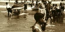 Playa en los años veinte