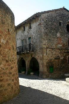 Casas antiguas en Besalú, Garrotxa, Gerona