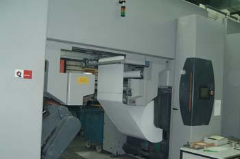 Desbobinado automático de rotativa