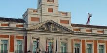 Fachada de la Casa de Correos en la Puerta del Sol de Madrid