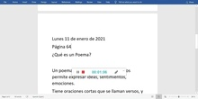 CLASE DE LENGUA  11 ENERO