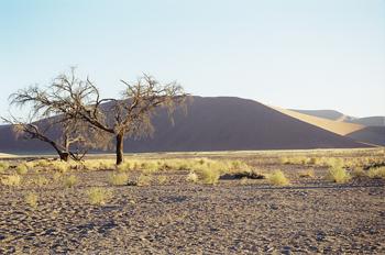 Atardecer en el desierto, Namibia