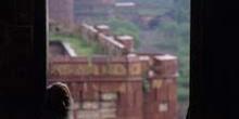 Vista de las murallas del Fuerte Rojo, Delhi, India