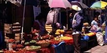 Puestos de verduras en San Cristóbal de las Casas, México