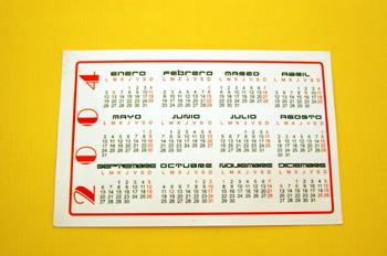 Calendario bolsillo
