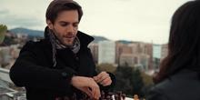 El jugador de ajedrez. Marc Clotet y Melina Matthews