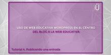 Curso Wordpress básico. Tutorial 4. Publicando una entrada