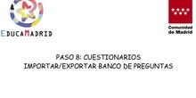 Importar/Exportar Banco de Preguntas