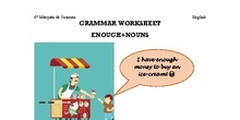 English worksheet enough+noun