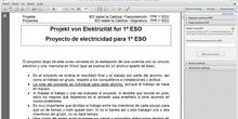 1º ESO / Proyecto de electricidad - 1 - Descripción y Pasos 1 y 2