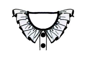 Cuello de volante fruncido