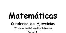 Recursos para matemáticas 4º