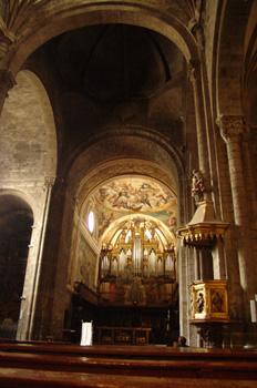 Púlpito y ábside principal, Catedral de Jaca