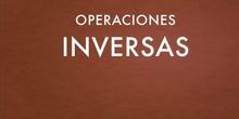 PRIMARIA - 5º - MATEMÁTICAS - OPERACIONES INVERSAS - FORMACIÓN