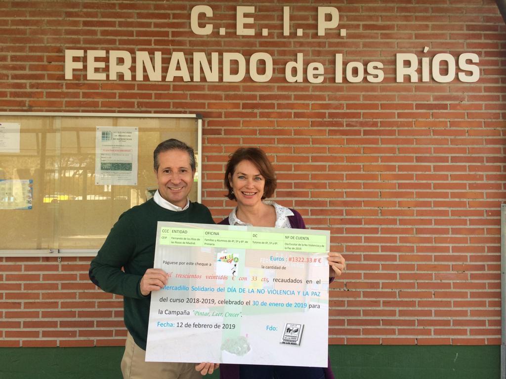 2019_02_19_Entrega cheque Mercadillo Solidario 2019_CEIP FDLR_Las Rozas 4