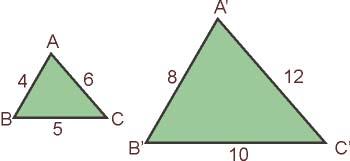 Primer criterio de semejanza de triángulos