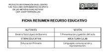 Recursos elaborados: Gestión de aula