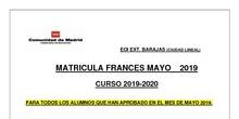matrícula francés mayo 2019