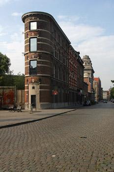 Vista de una calle de Amberes, Bélgica