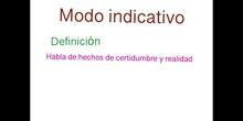 PRIMARIA - 5º - MODO INDICATIVO - LENGUA Y LITERATURA - FORMACIÓN