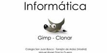 La herramienta Clonar en Gimp
