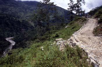 Carretera de acceso a Rumtek, Sikkim, India