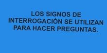 PRIMARIA 1º - SIGNOS DE INTERROGACIÓN - LENGUA Y LITERATURA - FORMACIÓN