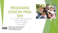 Presentación del proyecto Educar para Ser a la familias.