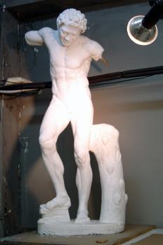 Estatua de escayola