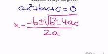 Resolución de la ecuación de segundo grado