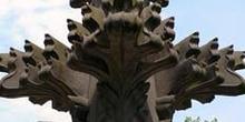 Detalle de decoración de la catedral de Colonia, Alemania