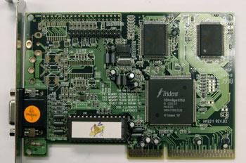 Vista de componentes de las tarjetas gráficas tipo AGP