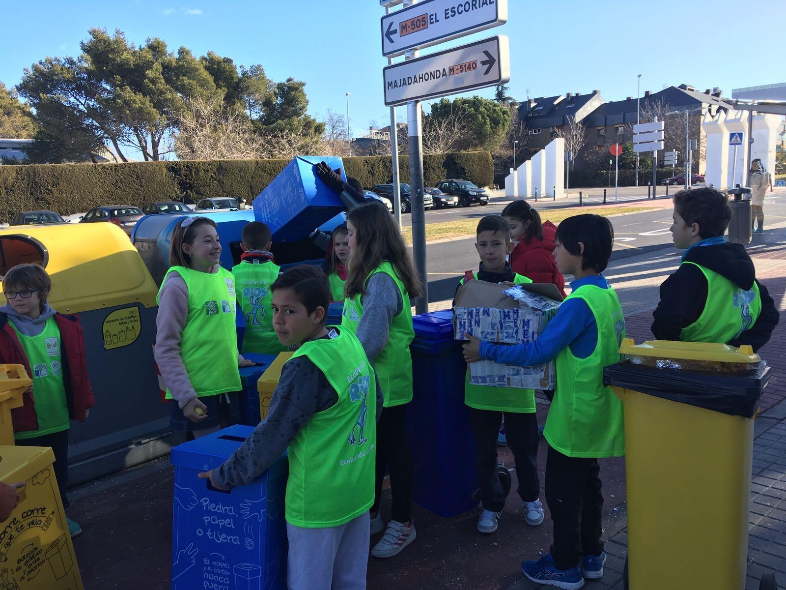 2018_02_EcoPatrullas reciclando_CEIP Fernando de los Ríos_Las Rozas 2