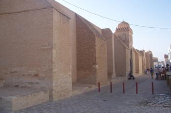 Muro de la Gran Mezquita, Kairouan, Túnez
