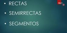 RECTAS, SEMIRRECTA Y SEGMENTO 4º E.P.