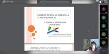 Sesión de orientación académica y profesional 2020