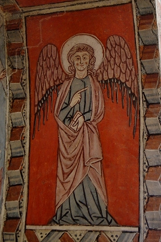 Figura de Angel. San Miguel de Foces, Huesca