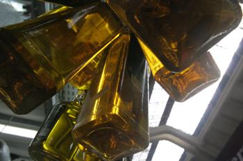 Botellas de aceite, Mercado de abastos de Sao Paulo, Brasil