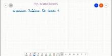 Ecuaciones polinómicas de grado 1