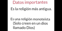 PRIMARIA - 6º - JUDAÍSMO- RELIGIÓN- FORMACIÓN